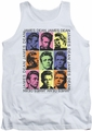 James Dean tank top James Color Block mens white