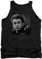 James Dean tank top Not Forgotten mens black