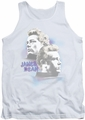 James Dean tank top Pastel Charmer mens white