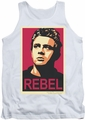 James Dean tank top Rebel Campaign mens white