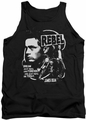 James Dean tank top Rebel Cover mens black