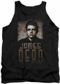 James Dean tank top Sepia Dean mens black