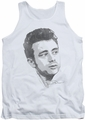 James Dean tank top Vintage Face mens white