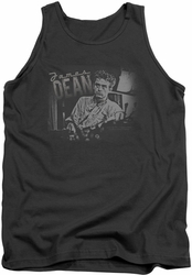 James Dean tank top Worn Out mens charcoal