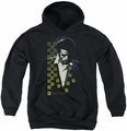 James Dean youth teen hoodie Checkered Darkness black