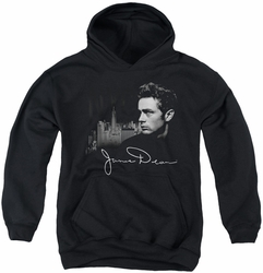 James Dean youth teen hoodie City Life black