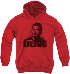 James Dean youth teen hoodie Dean Graffiti red