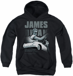 James Dean youth teen hoodie Immortality Quote black