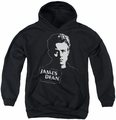 James Dean youth teen hoodie Intense Stare white