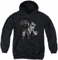 James Dean youth teen hoodie Mischevious Large black