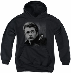 James Dean youth teen hoodie Not Forgotten black