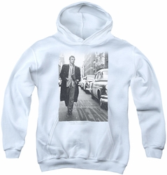 James Dean youth teen hoodie On The Street white