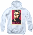 James Dean youth teen hoodie Rebel Campaign white