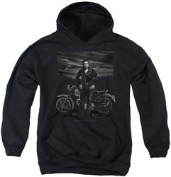 James Dean youth teen hoodie Rebel Rider black