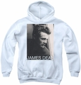 James Dean youth teen hoodie Reflect white