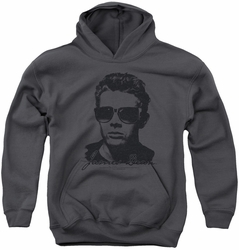James Dean youth teen hoodie Shades charcoal