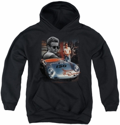 James Dean youth teen hoodie Sunday Drive black