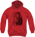 James Dean youth teen hoodie Trenchcoat red