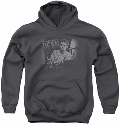 James Dean youth teen hoodie Worn Out charcoal