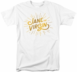 Jane The Virgin t-shirt Golden Logo mens white
