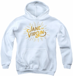 Jane The Virgin youth teen hoodie Golden Logo white