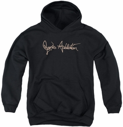 Janes Addiction youth teen hoodie Script Logo black