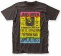 Janis Joplin Freedom Hall Poster fitted jersey tee coal mens pre-order
