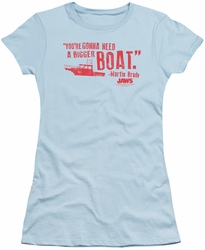 Jaws juniors t-shirt Bigger Boat light blue