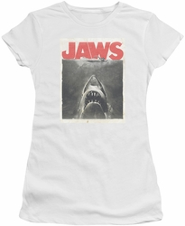 Jaws juniors t-shirt Classic Fear white