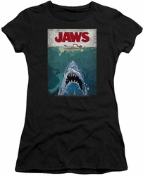 Jaws juniors t-shirt Lined Poster black