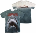 Jaws mens full sublimation t-shirt Poster