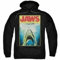 Jaws pull-over hoodie Bright Jaws adult black