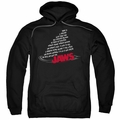 Jaws pull-over hoodie Dorsal Text adult black