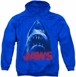 Jaws pull-over hoodie From Below adult royal blue