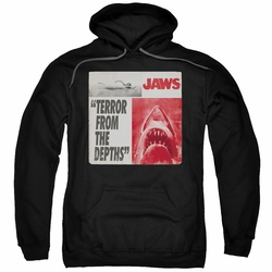Jaws pull-over hoodie Terror adult black