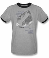 Jaws ringer t-shirt Like A Doll's Eyes adult heather black