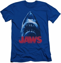 Jaws slim-fit t-shirt From Below mens royal blue