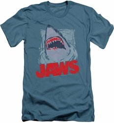 Jaws slim-fit t-shirt From The Depths mens slate