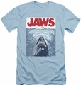 Jaws slim-fit t-shirt Graphic Poster mens light blue