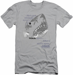 Jaws slim-fit t-shirt Like Doll's Eyes mens silver