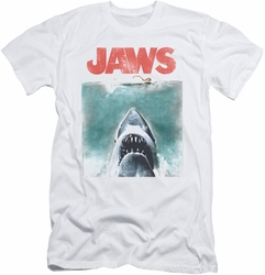 Jaws slim-fit t-shirt Vintage Poster mens white