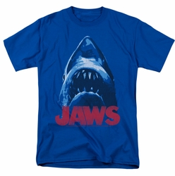 Jaws t-shirt From Below mens royal blue
