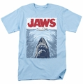 Jaws t-shirt Graphic Poster mens light blue