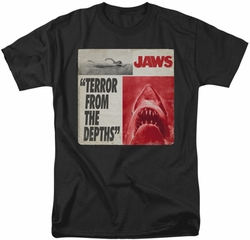 Jaws t-shirt Terror mens black