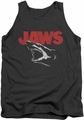 Jaws tank top Cracked Jaw mens charcoal