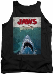 Jaws tank top Lined Poster mens black