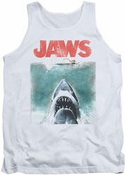 Jaws tank top Vintage Poster mens white