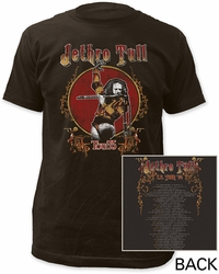 Jethro Tull Tour '75 Fitted Jersey t-shirt pre-order