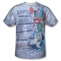 JLA Justice League of America front sublimation t-shirt Good Guys short sleeve White