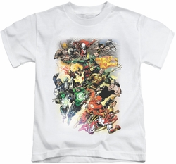 JLA kids t-shirt Brightest Day #0 white